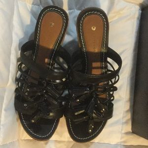 LEIFDOTTIR BLACK LEATHER SHOES NWT